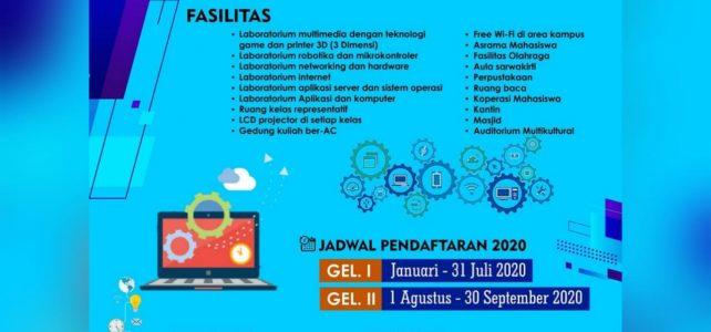 Penerimaan Mahasiswa Baru Program Sarjana Teknik Informatika Tahun 2020